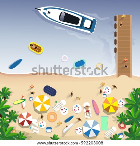 summer beach vacation set sand