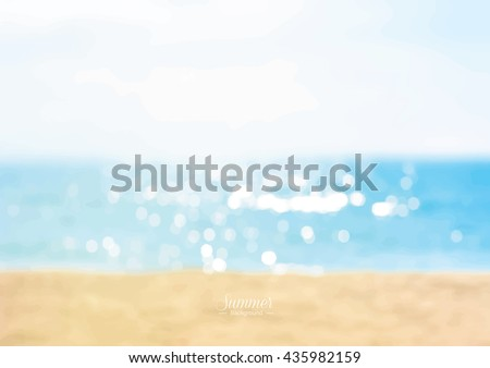 summer beach with shiny