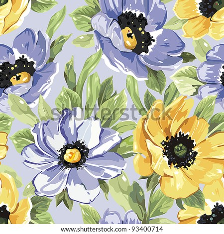 Summer Beautiful floral seamless pattern for fresh design. Elegance vector illustration.