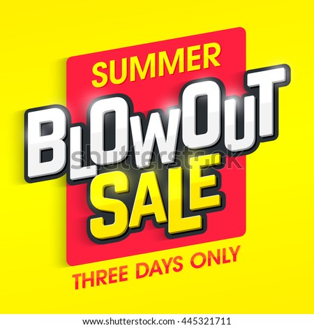 summer blowout sale banner