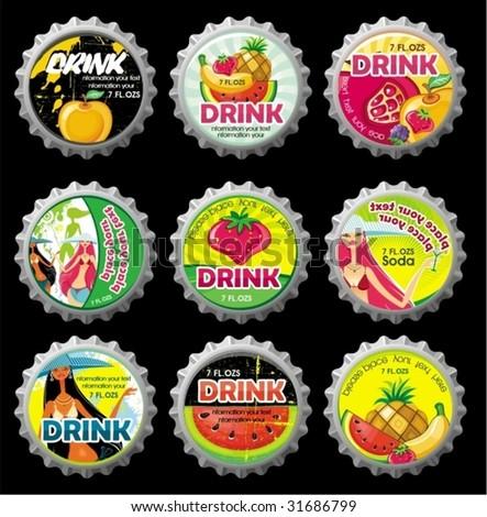 Summer bottlecaps.  To see similar, please VISIT MY PORTFOLIO