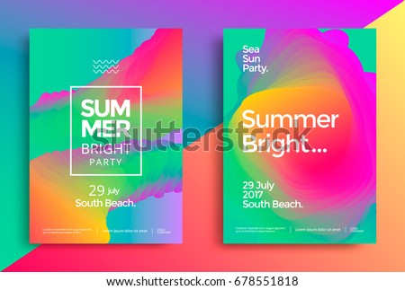 summer bright party poster