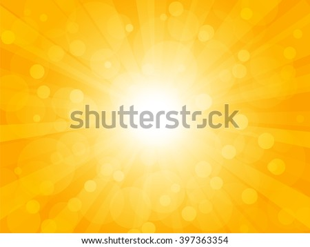 Summer brightly background with rays