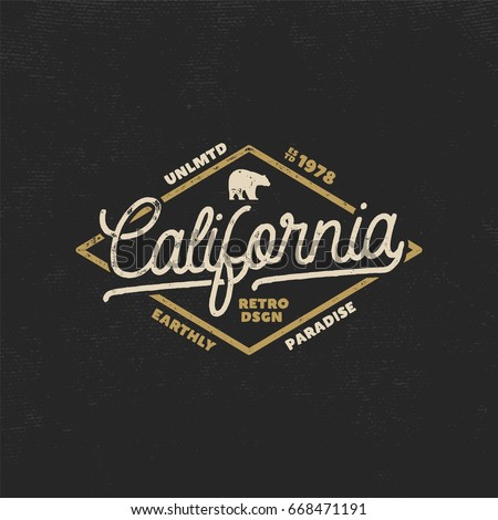 summer california label with