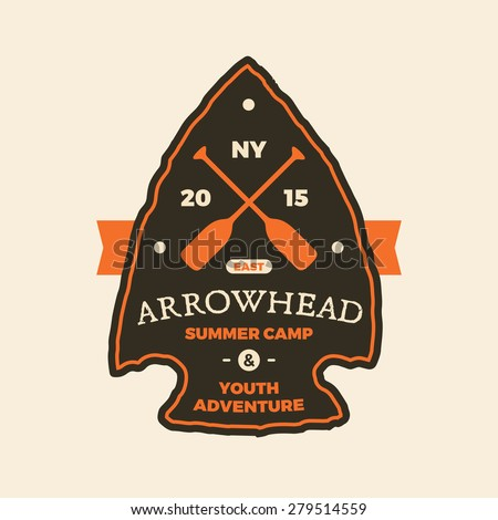summer camp arrowhead sign...