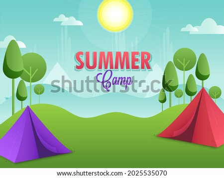 summer camp concept with two