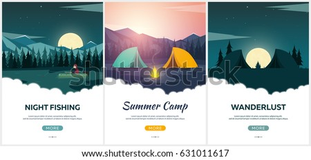 summer camp evening camp  pine