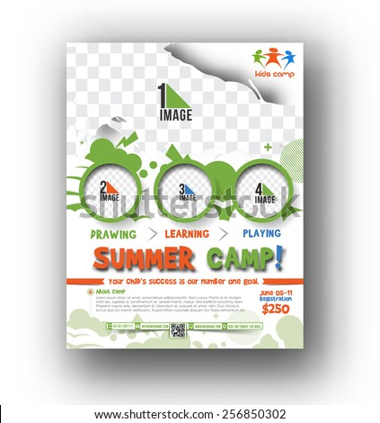 Shutterstock Mobile RoyaltyFree Subscription Photography – Camp Flyer Template