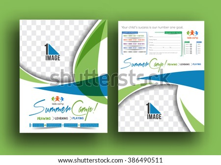 Vacations Brochure Template Vectors Download Free Vector Art - Summer camp brochure template