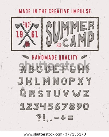 summer camp font crafted retro