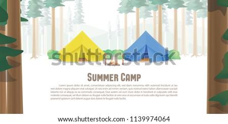 summer camp poster or banner