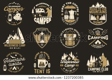 Summer campfire patch Badge - Download Free Vector Art, Stock