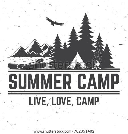 summer camp. vector...