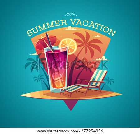 summer card   poster   template