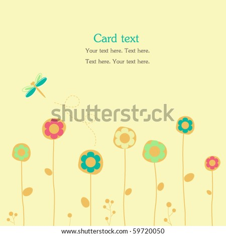 Summer card with flowers