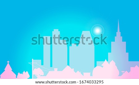 summer city vector background