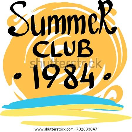 summer club 1984 orange