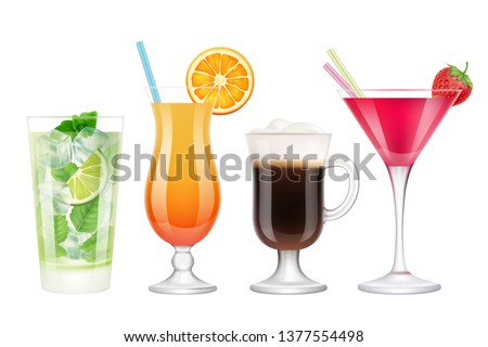 summer cocktails realistic