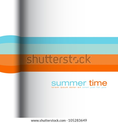 Summer colors - abstract vector background