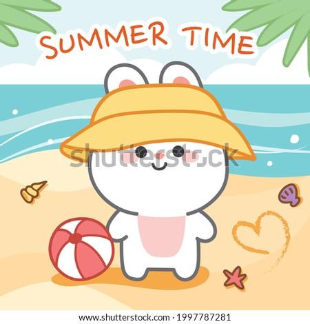 summer conceptcute rabbit