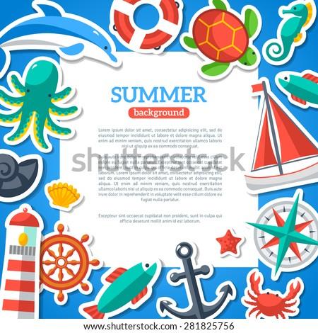 summer concept flyer template