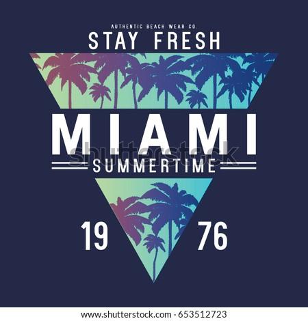 summer concept tee print vector