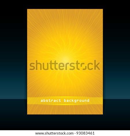 Summer cover design - stock vector