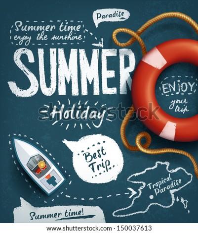 summer creative design template