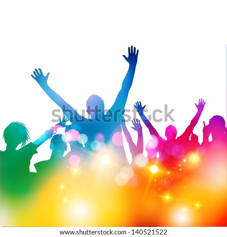 Summer Crowd Party - vector illustration