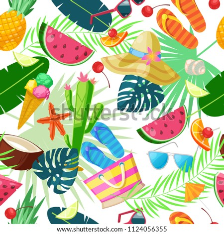 summer cute seamless pattern