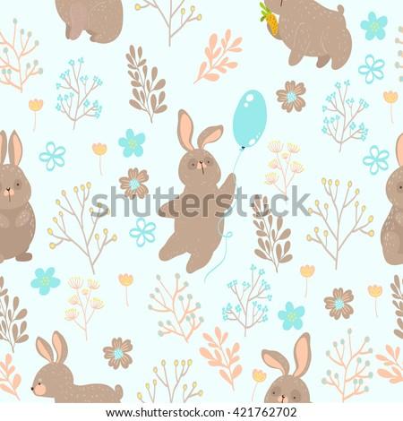 summer cute seamless pattern