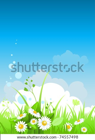 summer day background with