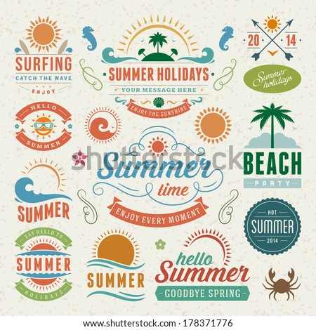 summer design elements and