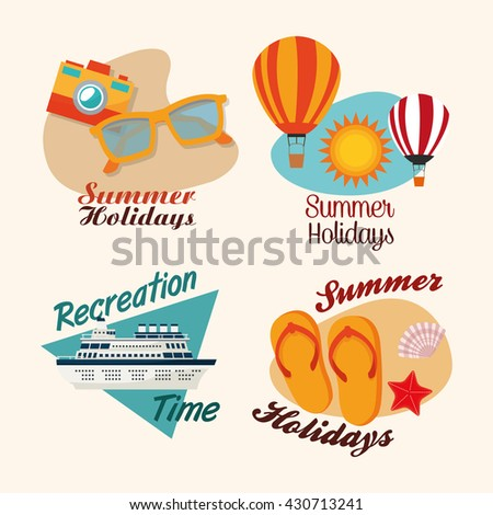 summer design holidays icon