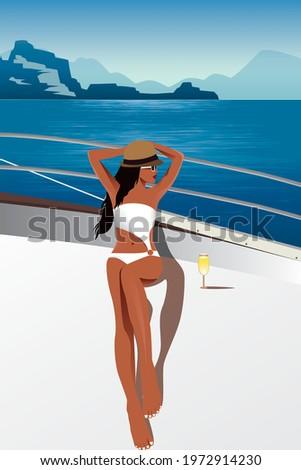 summer digital illustration of