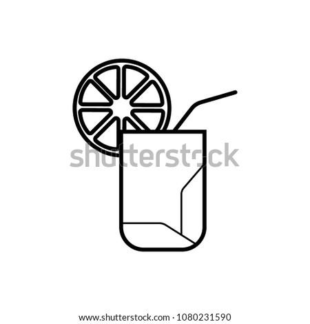 Summer drink - Vector icon