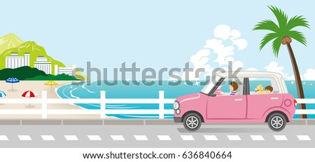 summer drive in the seaside