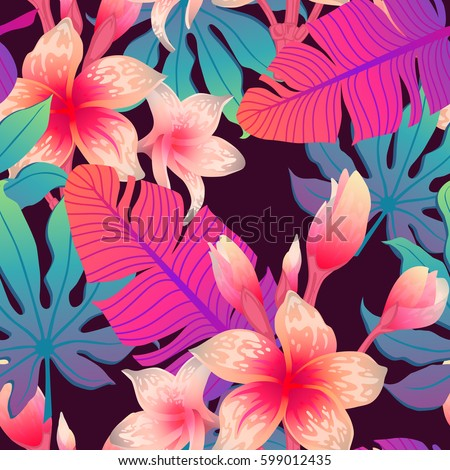 summer exotic floral tropical