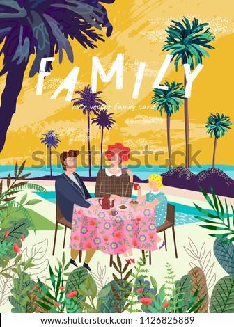 summer family happy holidays