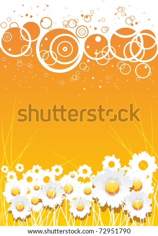 Summer floral background with chamomile flowers and sunlights. Jpeg version also available in gallery