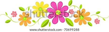summer flower banner