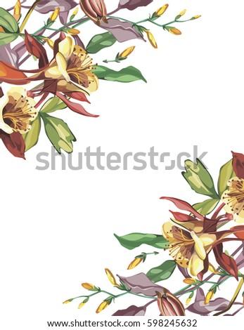 summer flower frame in a