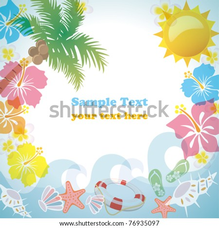 Summer frame. Illustration vector.