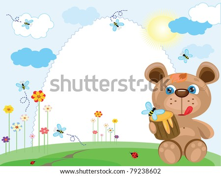 Summer frame with bear
