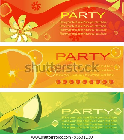 summer fresh party invitation