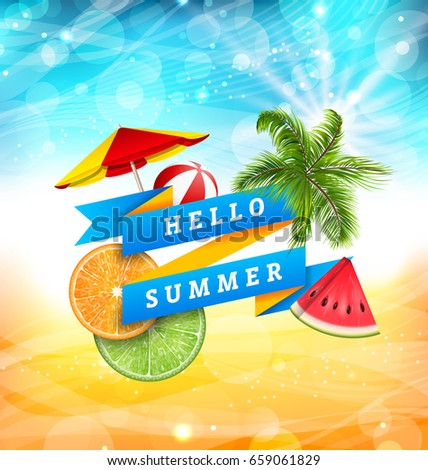 summer fun poster design with