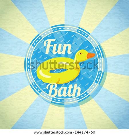 summer fun sea rubber duck