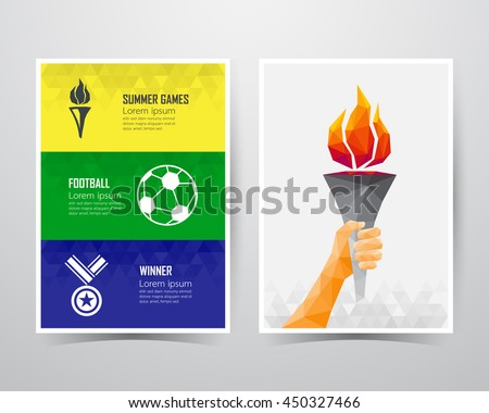 Summer games banner template, A4 size, vector illustration