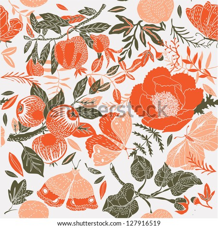 summer garden deco tile