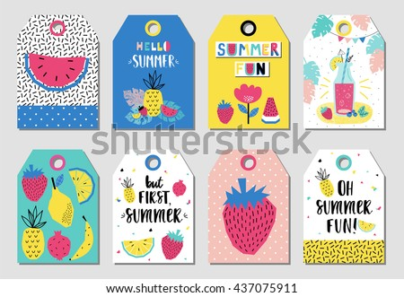 summer gift tags and labels